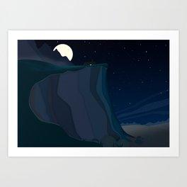 fairy landscape (at night) Art Print