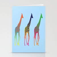 giraffes Stationery Cards featuring Giraffes  by Michelle Jalfon