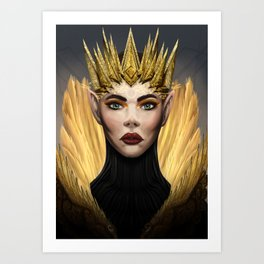 Elf Queen Art Print