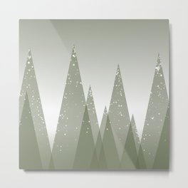 Green Abstract Forest Metal Print