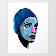 Woman's head Art Print