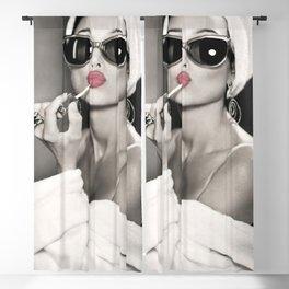 Audrey Hepburn Wall Art - Fashion Style Décor - Pretty Lips Poster Blackout Curtain