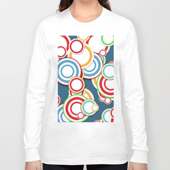 Pattern circle top Long Sleeve T-shirt