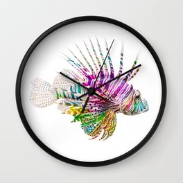 When I Dream of Lionfish Wall Clock