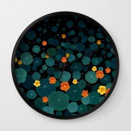 Nasturtium Garden Wall Clock