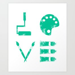 Artist Painter Art Teacher Designer Love Art Tools Gift Art Print