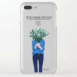 Baby's Breath Clear iPhone Case