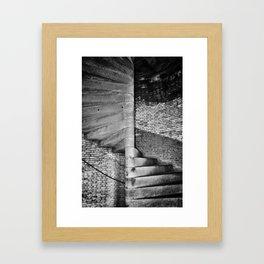 fort point stair case Framed Art Print
