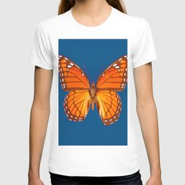 TEAL ORANGE MONARCH BUTTERFLY T-shirt