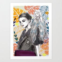 Fashion Illustration 3 High Fashion Girl Art Print