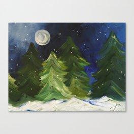 Winter Moon Canvas Print