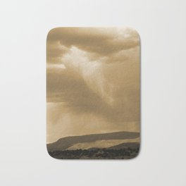 Rain's Coming in Sepia Bath Mat