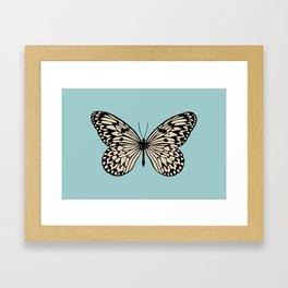 Paper Kite Moth (Idea Leuconoe) Framed Art Print