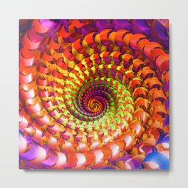 Colorful spiral Metal Print
