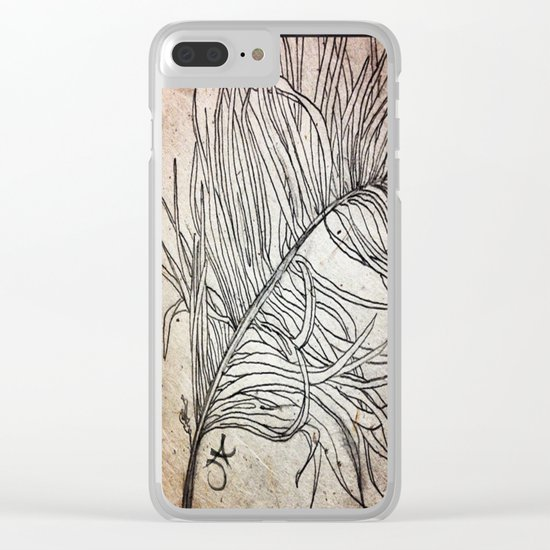 Palm Flower on Earth Day Clear iPhone Case