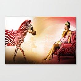 Red Zebra Canvas Print