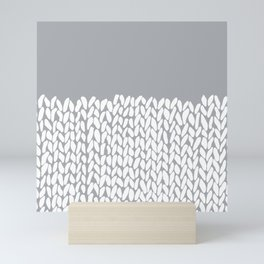 Half Knit Grey Mini Art Print