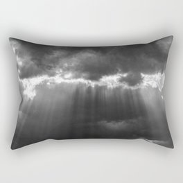 Black Light Rectangular Pillow