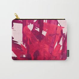 Embers: a vibrant abstract piece in pinks Carry-All Pouch