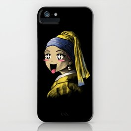 Kawaii with a Pearl Earring iPhone Case