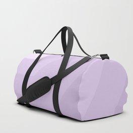 White,lilac, horizontal, diagonal stripe Duffle Bag