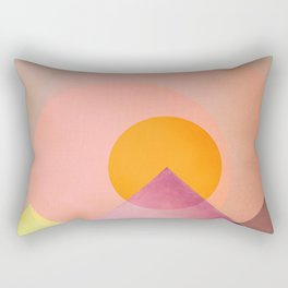 Sun in the mountains Rectangular Pillow