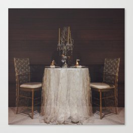 The Romance of a Table for Two Canvas Print