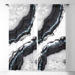 Agate Glitter Glam #17 #gem #decor #art #society6 Blackout Curtain
