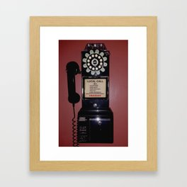 Public Telephone - case Framed Art Print