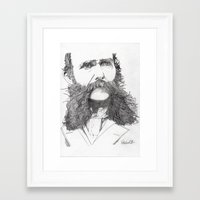 moustache Framed Art Prints featuring Moustache by Paul Nelson-Esch Art