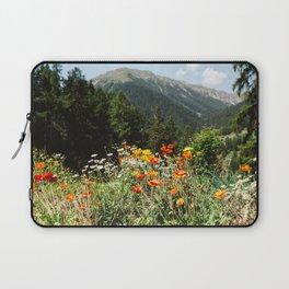 Mountain garden in Switzerland mountains Laptop Sleeve