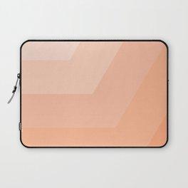 White, peach, coral, horizontal, diagonal stripe Laptop Sleeve