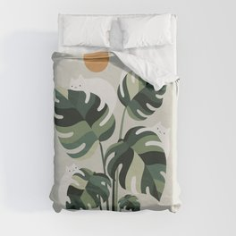 Cat and Plant 11 Duvet Cover