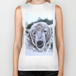 Animals and Art - Polar Bear Biker Tank