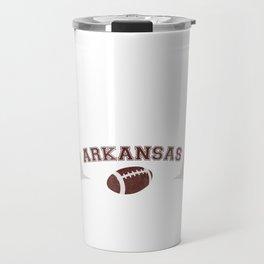 Just a Baller from Arkansas Football Player Travel Mug