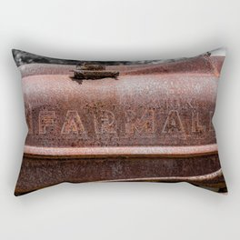 Rusted Farmall Red Tractor Caroded Rusty Side Panel Rectangular Pillow