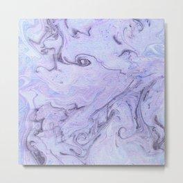 Marbly Lavender Metal Print
