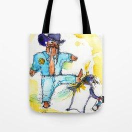 Walrus, Texas Ranger Tote Bag