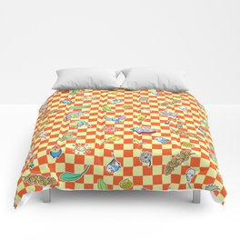 Budgie parrot pattern Comforters