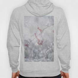 Winter Scene Rowan Berries With Snow And Bokeh #decor #buyart #society6 Hoody