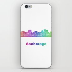 Rainbow Anchorage skyline iPhone & iPod Skin