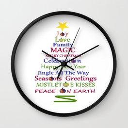 Holiday Tree Wall Clock