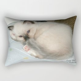 Lucy The Cat And Little Brother Cristiano Rectangular Pillow