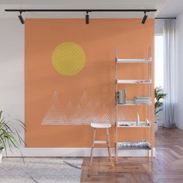 Textured Mountain Sun Wall Mural