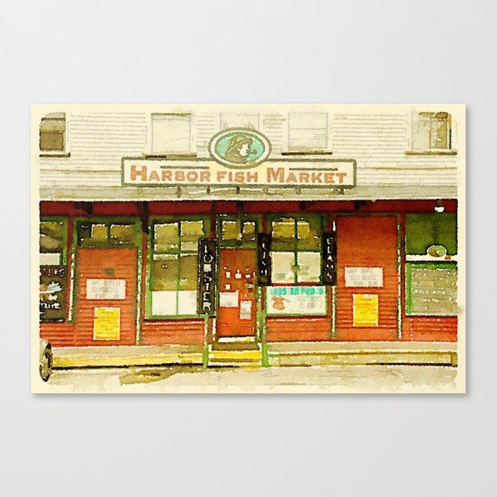 Harbor Fish Market Canvas Print