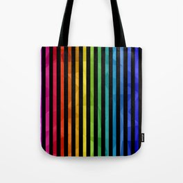 BLACK + RAINBOW Tote Bag