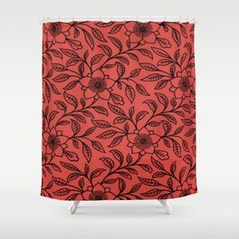 Grenadine Lace Floral Shower Curtain