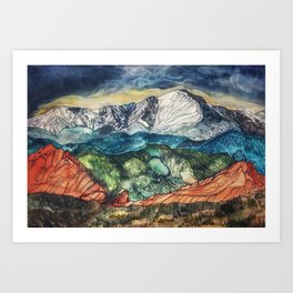 Pikes Peak Print Art Print