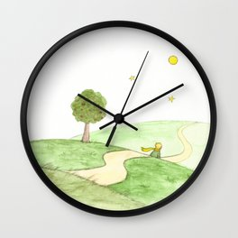 The little Prince and the Fox Wall Clock
