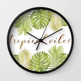 Tropical Vibes - Palms Wall Clock